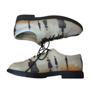 ICON - Black & Ivory Wearable Art Oxfords